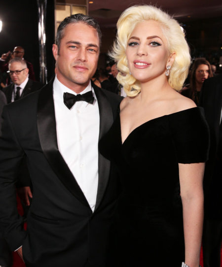 BEVERLY HILLS,  CA - JANUARY 10: Actor Taylor Kinney and recording artist Lady Gaga attend the 73rd Annual Golden Globe Awards at The Beverly Hilton Hotel on January 10,  2016 in Beverly Hills,  California. (Photo by Todd Williamson/Getty Images)