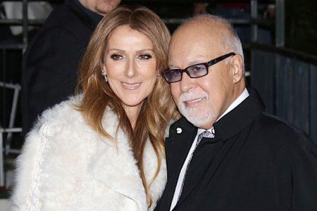 "51261944 Singer Celine Dion and her husband Rene Angelil arriving at the TV show ""Vivement Dimanche"" on November 13,  2013 in Paris,  France. FameFlynet,  Inc - Beverly Hills,  CA,  USA - +1 (818) 307-4813 RESTRICTIONS APPLY: USA ONLY"