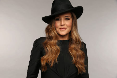 NASHVILLE,  TN - JUNE 05: Musician Lisa Marie Presley poses at the Wonderwall portrait studio during the 2013 CMT Music Awards at Bridgestone Arena on June 5,  2013 in Nashville,  Tennessee. (Photo by Christopher Polk/Getty Images for Wonderwall)