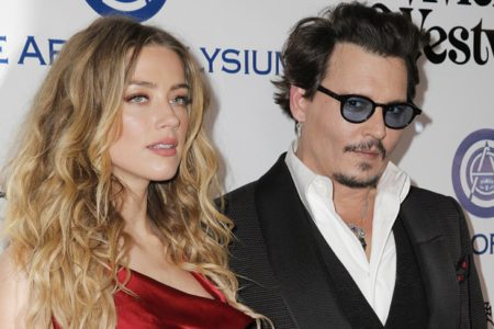 CULVER CITY,  CA - JANUARY 09: Actors Amber Heard and Johnny Depp attend The Art of Elysium 2016 HEAVEN Gala presented by Vivienne Westwood & Andreas Kronthaler at 3LABS on January 9,  2016 in Culver City,  California. (Photo by Alison Buck/Getty Images)