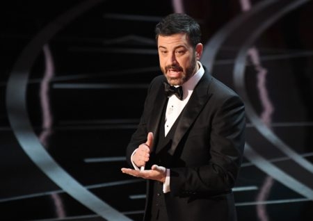 Feb 26,  2017; Hollywood,  CA,  USA; Jimmy Kimmel delivers his opening monologue during the 89th Academy Awards at Dolby Theatre. Mandatory Credit: Robert Deutsch-USA TODAY NETWORK ORG XMIT: USATSI-357477 ORIG FILE ID: 20170226_jla_usa_059.jpg