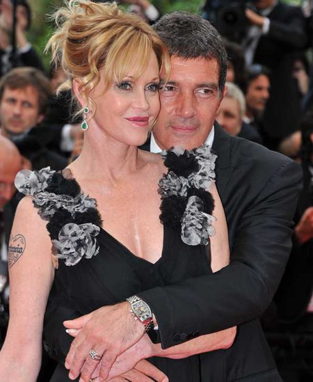 CANNES,  FRANCE - MAY 11: Actor Antonio Banderas (R) and actress Melanie Griffith attends the Opening Ceremony at the Palais des Festivals during the 64th Cannes Film Festival on May 11,  2011 in Cannes,  France. (Photo by Pascal Le Segretain/Getty Images)